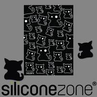 【Siliconezone】Siconi環保矽膠任意桌貼布-黑貓
