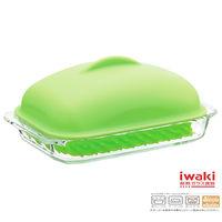 【iwaki】耐熱焗烤蓋附蓋700ml(綠)