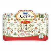 蘇菲天然草本衛生棉25cm(18片×4包)