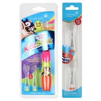 寶貝牙刷-音波式電動牙刷(3-6歲)+兩刷頭(6歲以上)