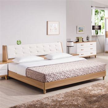【時尚屋】[UZ6]寶格麗6尺加大雙人床UZ6-33-3+33-4不含床頭櫃-床墊