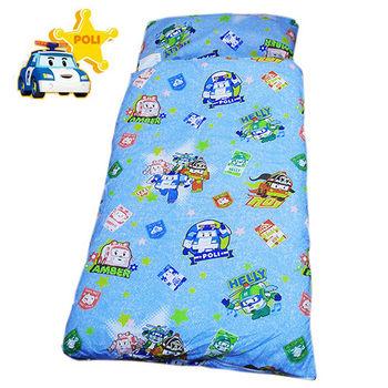【POLI】救援小英雄二用幼教兒童睡袋-波力