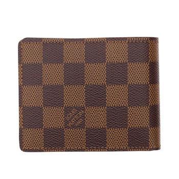 LV N61208 Slender 棋盤格紋雙折短夾 預購