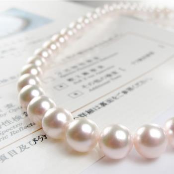 天然日本AKOYA 花珠/珍珠項鍊(8.5-9.0mm) 晉佳珠寶
