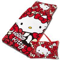 【享夢城堡】HELLO KITTY 我的Ribbon時尚系列-鋪棉兩用兒童睡袋 (紅)