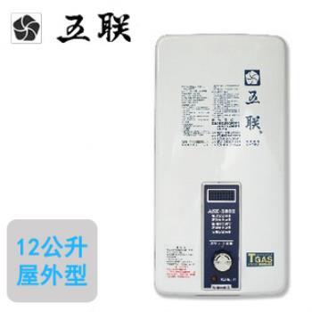 五聯自然排氣屋外抗風型熱水器 ASE-5802(12L)(液化瓦斯)