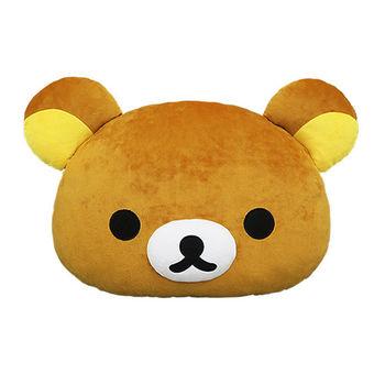 【享夢城堡】Rilakkuma拉拉熊 頭型抱枕 12吋 (拉拉熊)(牛奶熊)