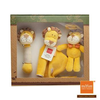 美國miYim有機棉安撫玩具禮盒組 里歐獅子