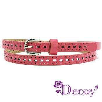 【Decoy】點點皮革*糖果色腰帶/紅