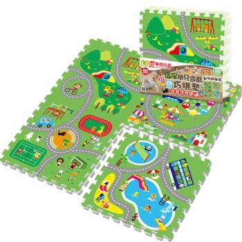 LOG樂格 環保遊戲巧拼墊-動物遊樂園 (60x60cmx4片)