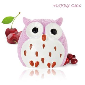 【Happy owl】快樂貓頭鷹護唇膏-粉漾櫻桃1.5G