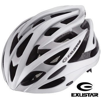 【Exustar】26孔自行車專用安全帽 (白)
