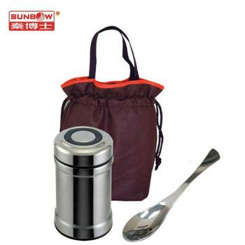 秦博士 304不鏽鋼高真空養生燜燒罐魚尾匙餐具袋組 SGB500+SP06+BA2771