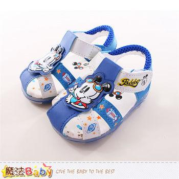 魔法Baby 寶寶鞋 BOB DOG正版寶寶涼鞋~sh9694