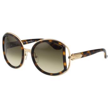 Salvatore Ferragamo- 時尚 太陽眼鏡(琥珀色)