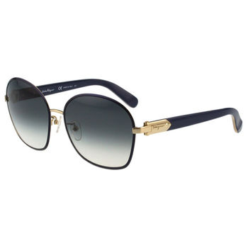 Salvatore Ferragamo- 時尚優雅太陽眼鏡(藍色)