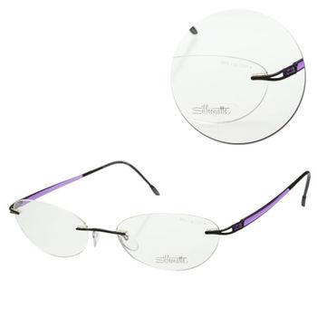 【Silhouette 詩樂】無框橢圓人造纖維紫色光學眼鏡(6673-50-6059)