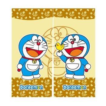 哆啦A夢Doraemon和風中門簾-黃90x85cm(FL803)