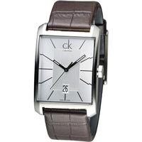 CK 紳士任務型男時尚錶-咖啡色皮帶(K2M21126)