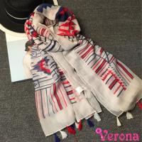 【Verona】流蘇女孩巴黎紗防曬沙灘巾空調披肩(180 * 100 cm)