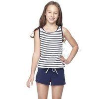 【沙兒斯】時尚經典條紋款女童二件式連身褲泳裝NO.B82416-1(現貨+預購)