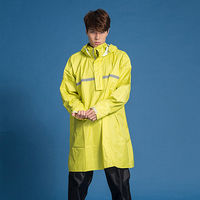 奧德蒙戶外機能特仕OutPerform-頂峰360度全方位太空背包雨衣-短版-芥末黃-單上衣+單褲