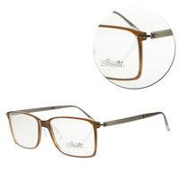 【Silhouette 詩樂】SPX輕型方框棕色復古光學眼鏡(SPX2879-41-6052)