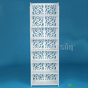 【Osun】木塑板置物架 歐式白色雕花七層經典款(CE-178_12040)