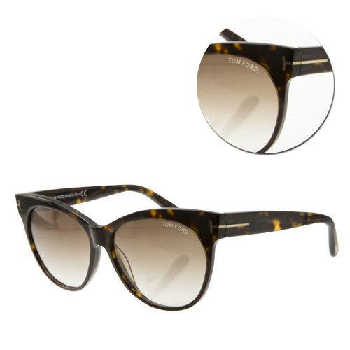 【TOM FORD】時尚漸層茶色琥珀太陽眼鏡(Saskia-TF330-56F)