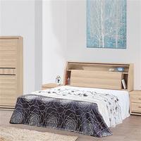 【時尚屋】[UZ6]伸龍橡木色5尺雙人床UZ6-44-6+44-7不含床頭櫃-床墊