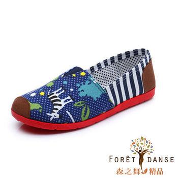 【森之舞】淘氣動物紋-帆布包鞋