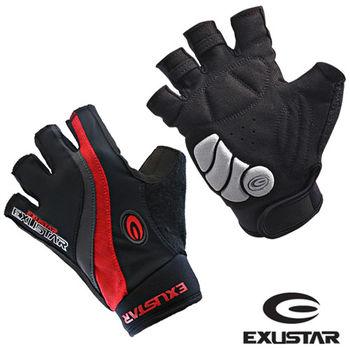 EXUSTAR GEL吸震半指手套 (紅)XL