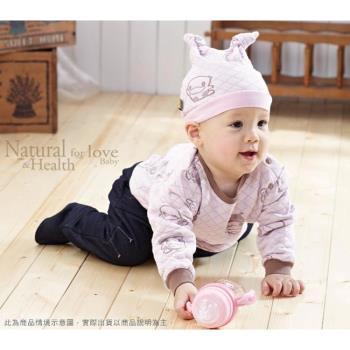 KU.KU酷咕鴨 小淘氣牛仔連身裝禮盒粉色(帽子+連身裝+腳套)-0-6M適用