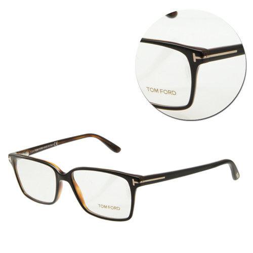 【TOM FORD】復古方形黑框色咖啡光學眼鏡(TF5311-005)