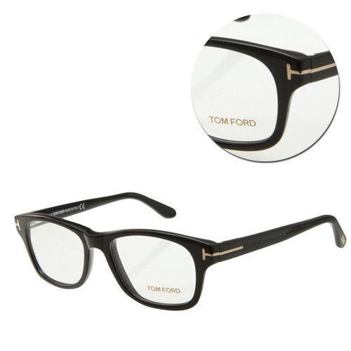【TOM FORD】復古方形亮面全框黑光學眼鏡(TF5147-001)