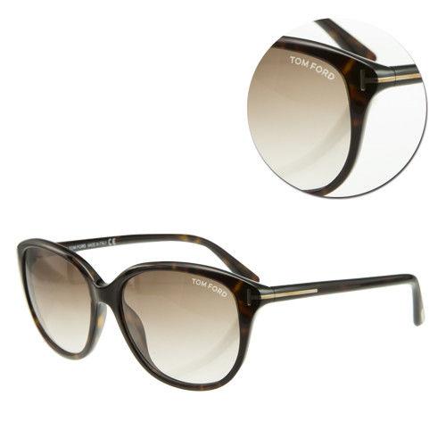 【TOM FORD】漸層咖啡方框琥珀太陽眼鏡(TF329-52F)
