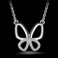 【米蘭 】925純銀項鍊吊墜獨特精緻復古蝴蝶風格