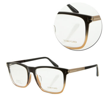 【TOM FORD】復古方形全框黑金色光學眼鏡(TF5351-F-050)