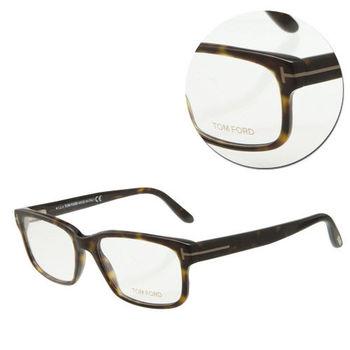 【TOM FORD】復古方形玳瑁粗框光學眼鏡(TF5313-052)