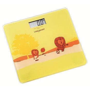 (福利品)【獅子心】超可愛LED電子體重計LBS-008 / 強化玻璃 / 最大秤重150kg