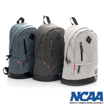NCAA 筆電後背包 雙層 直拉式 文青風格 後背包-(卡其、棕、深灰色)