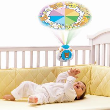 【Vtech】寶貝熊床邊音樂投射機(藍色)