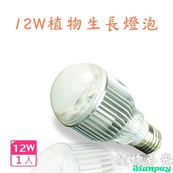 led植物生長燈泡 LED 12W/12瓦 LED植物燈 台灣製造 保固一年-植物白光