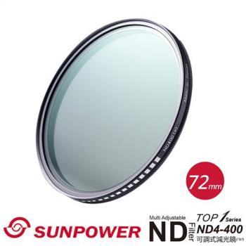 SUNPOWER TOP1 72mm ND4-ND400 可調減光鏡