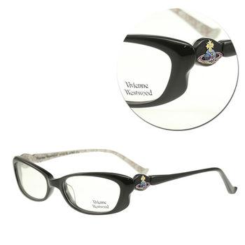 【Vivienne Westwood】優雅膠框長方黑色光學眼鏡(mod.VW238-C3)