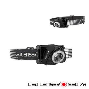德國 LED LENSER SEO 7R充電式伸縮調焦頭燈-黑