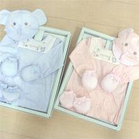 GMP BABY台灣製舒適寶貝雙熊兩用兔裝+帽彌月禮盒1組