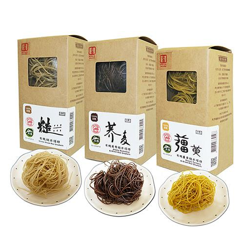 《源順》養生有機米糆條x4+蕎麥糆條x2盒(薑黃糙米糆條x2+糙米糆條x2+蕎麥糆條x2,共18粒入)