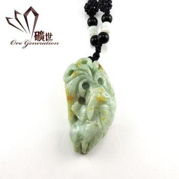 【礦世】貔貅油青種簍雕天然A貨翡翠