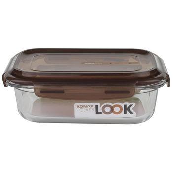 【KOMAX】巧克力長形強化玻璃保鮮盒880ml (K59076)